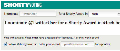 Shorty Awards en Twitter