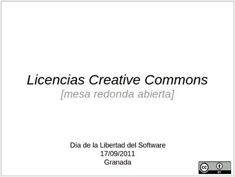 Mesa redonda sobre Creative Commons, ¿nos ayudas?