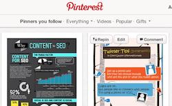 Nuevas condiciones de uso de Pinterest