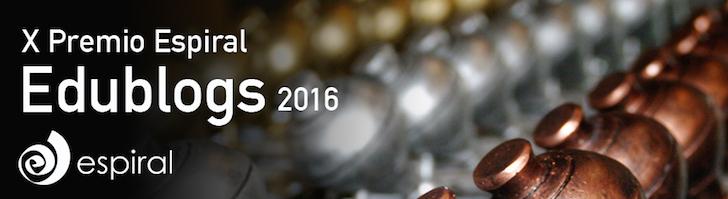 X Premio Espiral Edublogs 2016… Las Peonzas Comienzan a Girar de Nuevo
